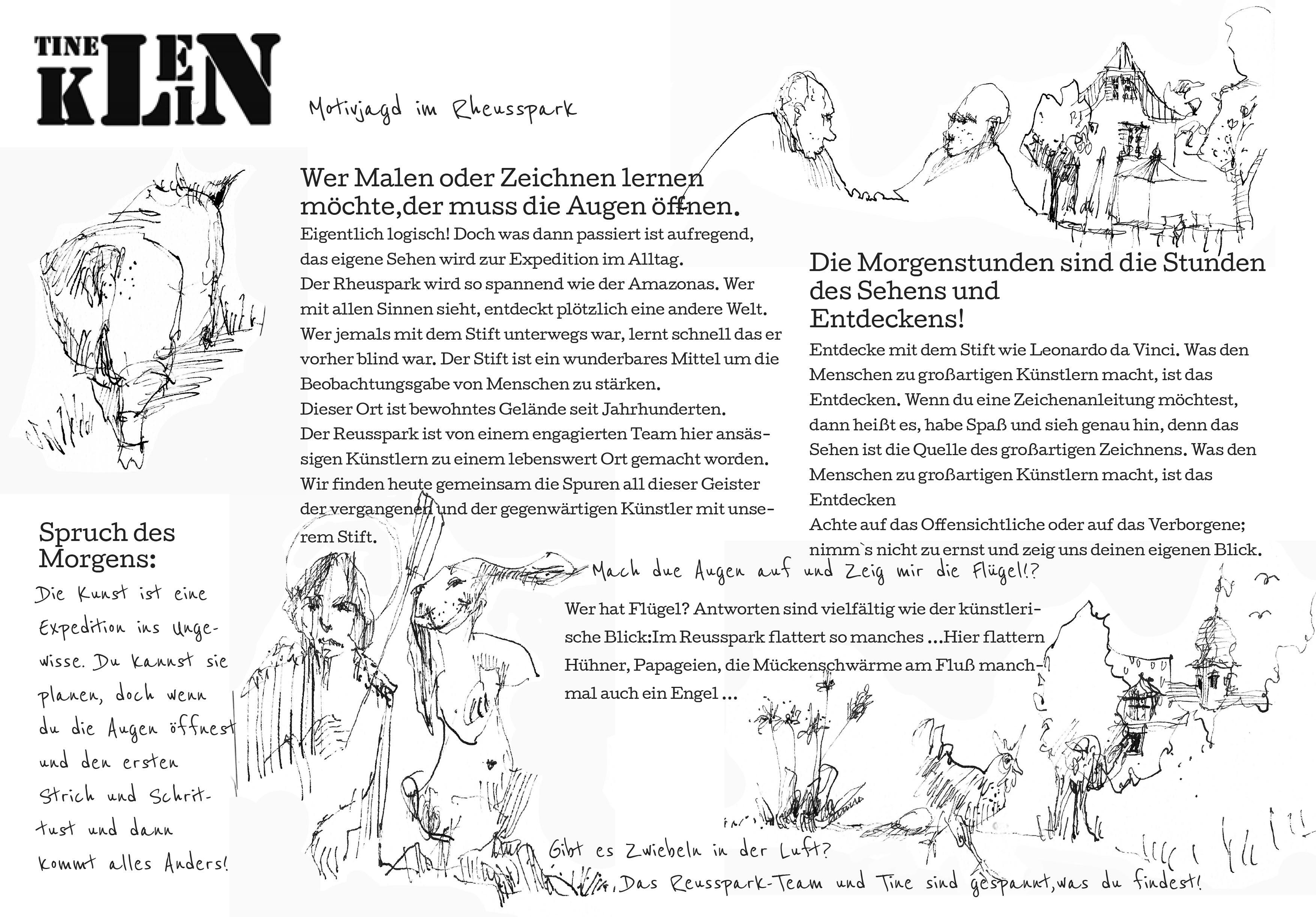 Arbeitsblatt am Morgen nummer korrigiert - Atelier Herz der Kunst